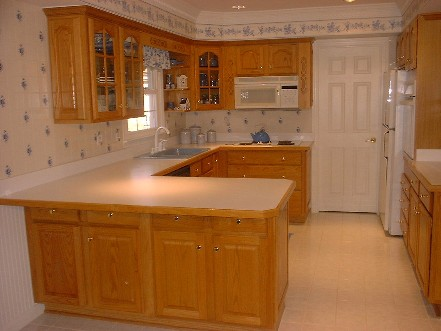 Oak cabinets and laminate countertop Colonial